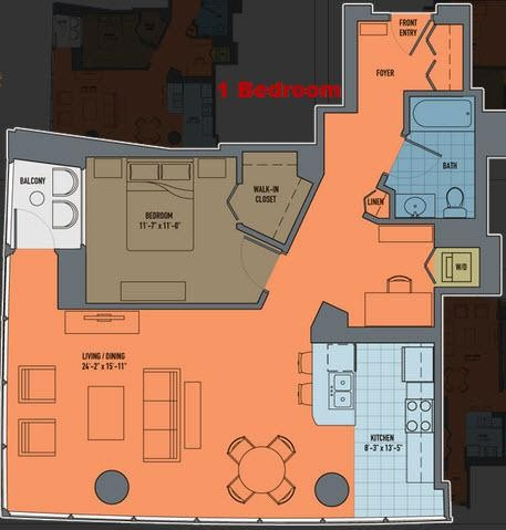 356 e ohio st 1076 chicago il 60611 1 bedroom apartment for Apartment landlord plans lincoln park expansion